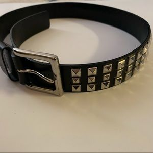 Accessories - Black w/silver studs as well as belt buckle edgy
